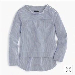 Funnelneck Striped Shirt